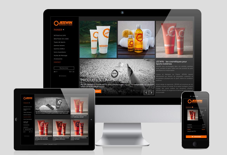 Boutique Design En Ligne web design] graphisme boutique en ligne de cosmétiques pour les sportifs