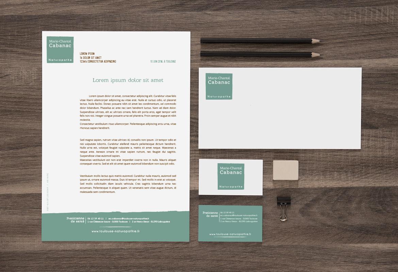 Graphisme Print Cration De Cartes Visite Et Dentte Lettre Dune Naturopathe
