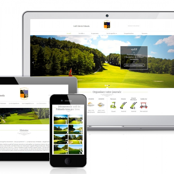 [Web Design] Graphisme site Internet d'un golf vers Toulouse (Palmola)