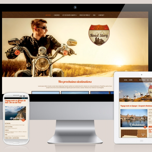 [Web Design] Graphisme site Internet d'un voyagiste moto sur Toulouse